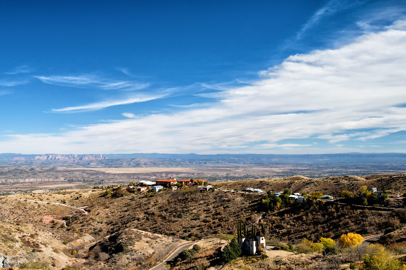 Looking east from the vantage point of Jerome