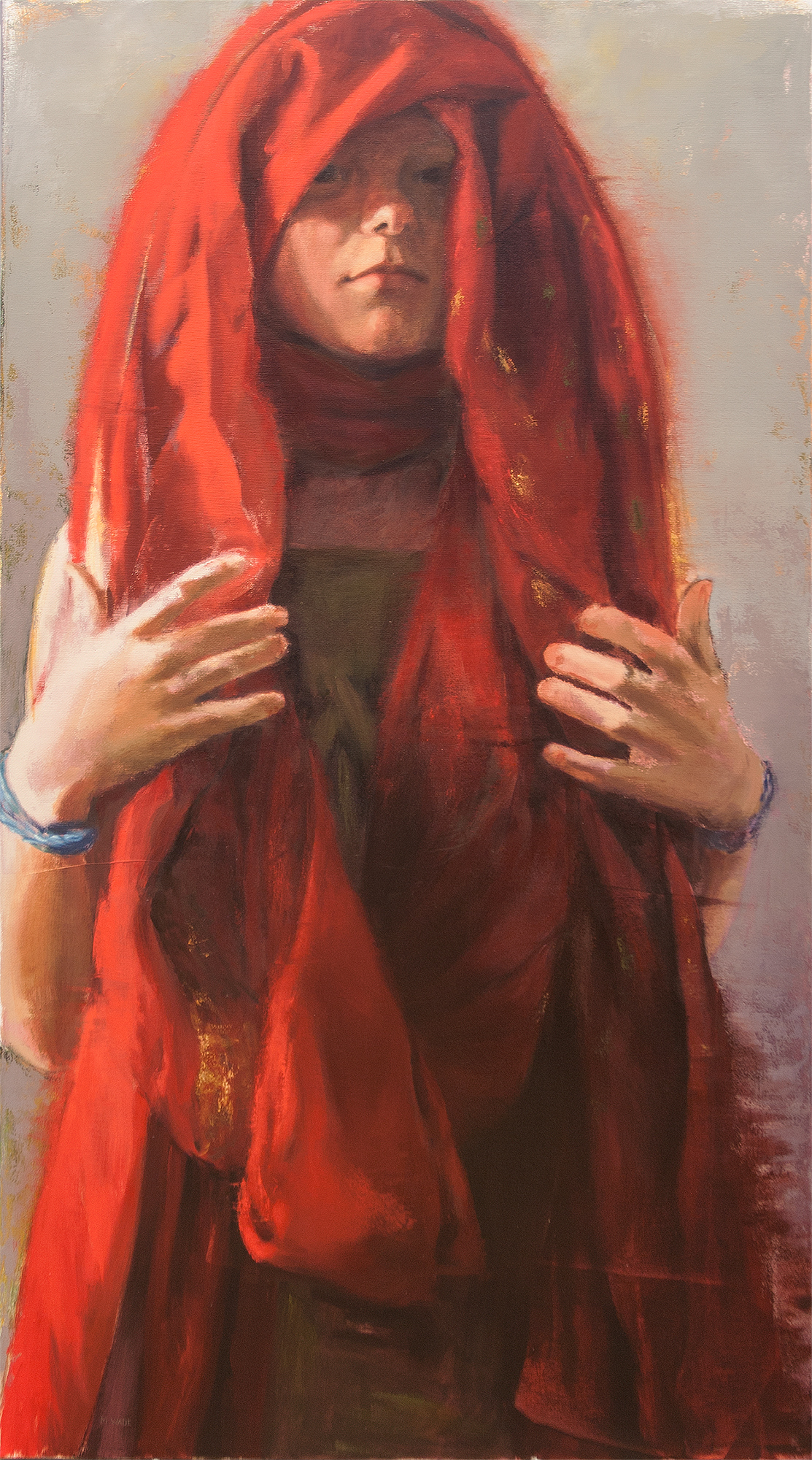 """Oracle"" (oil on canvas) by Martha Wade"