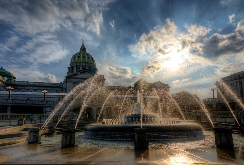 harrisburg photowalk - new capitol fountains HDR (p).jpg