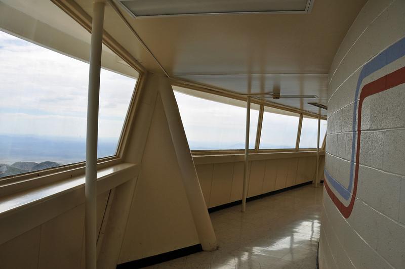 Observation deck 10 stories above the peak.