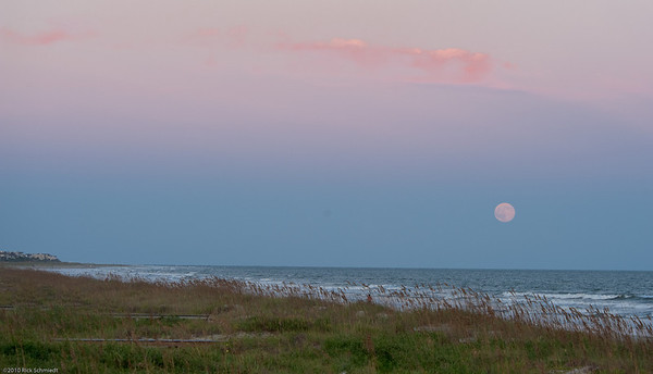 Moonrise at Sunset -- Beach Scenes