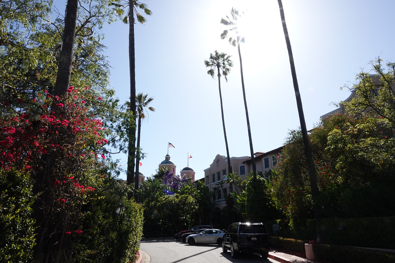 The outside of the Beverly Hills hotel