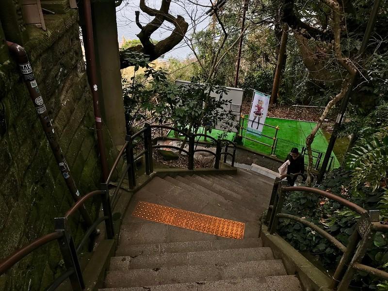 Staircases on Enoshima.