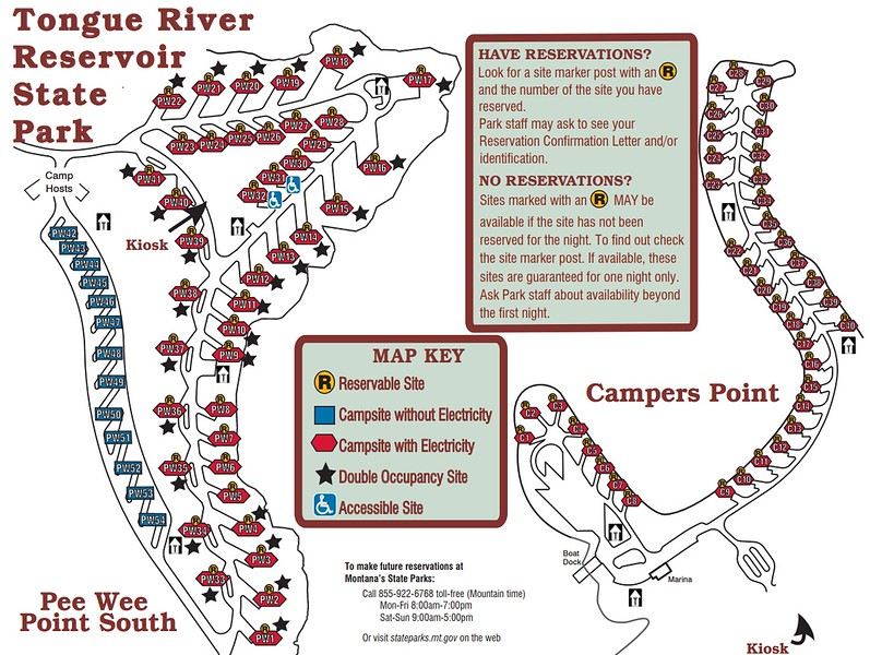 Tongue River Reservoir State Park (Campground Maps)