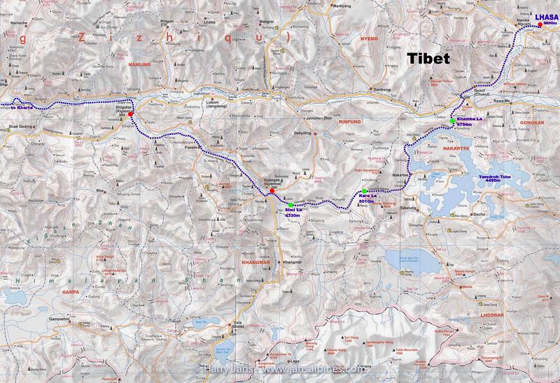 Tibet Kangshung valley. map 1