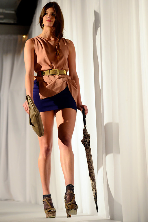 . DENVER, CO. - FEBRUARY 7: Models work the runway during the Whiteout 2013 at the McNichols Building. The winter-themed show and art exhibit celebrates local artists and designers. (Photo By AAron Ontiveroz/The Denver Post)