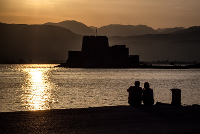 An Evening by the Nafplio Harbor