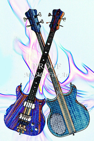 Alembic Bass Guitar Watercolor Fine Art Prints