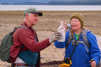 Third 'Message In A Bottle' Found April 2013, Cynthia Meyer, Chichagof Island, Alaska
