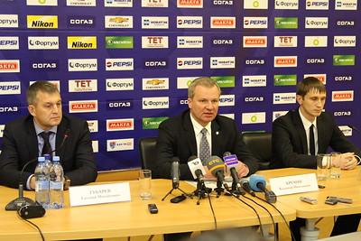Пресс-конференция. Владимир Кречин, Денис Телих, Евгений Губарев. 18 марта 2014