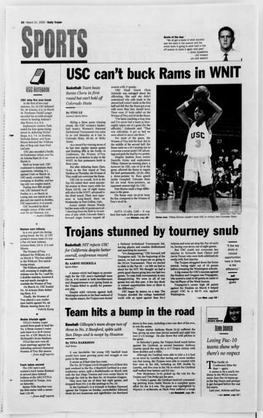 Daily Trojan, Vol. 139, No. 40, March 21, 2000