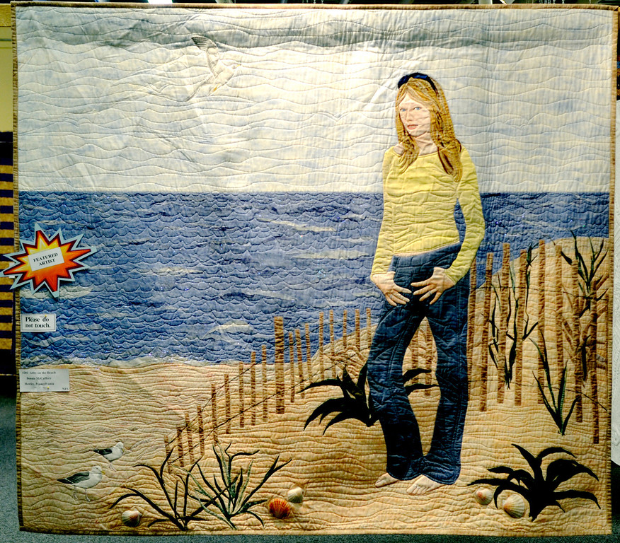 ". Jeff Forman/JForman@News-Herald.com ""Abby on the Beach\"" by featured artist Bonnie McCaffery of Hawley, Pa."