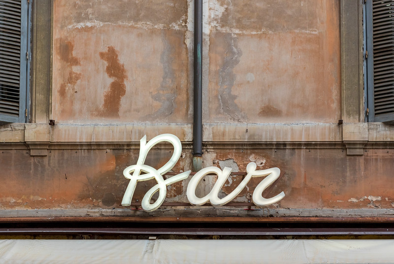 Typical Italian Bar Sign