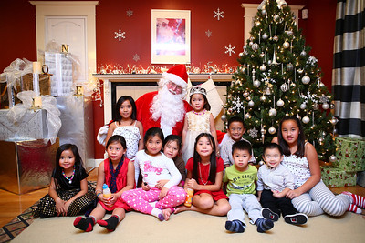Santa with the kids