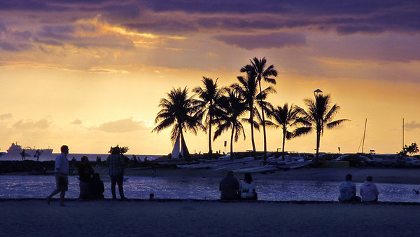 Sunsets and Night time at Hilton Hawaiian Village