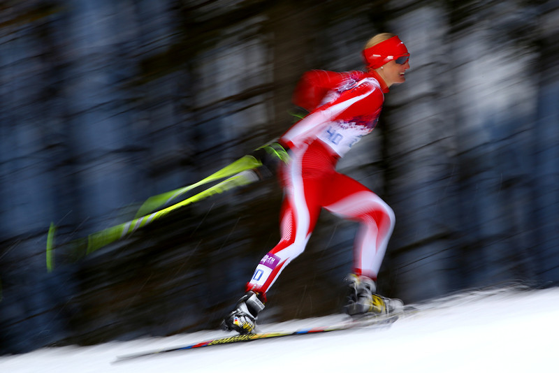 . Agnieszka Szymanczak of Poland competes in Qualification of the Ladies\' Sprint Fee during day four of the Sochi 2014 Winter Olympics at Laura Cross-country Ski & Biathlon Center on February 11, 2014 in Sochi, Russia.  (Photo by Doug Pensinger/Getty Images)