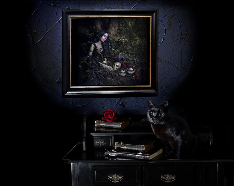"""""""Tea For The Dead"""" framed"""