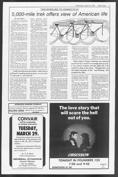 Daily Trojan, Vol. 71, No. 30, March 23, 1977