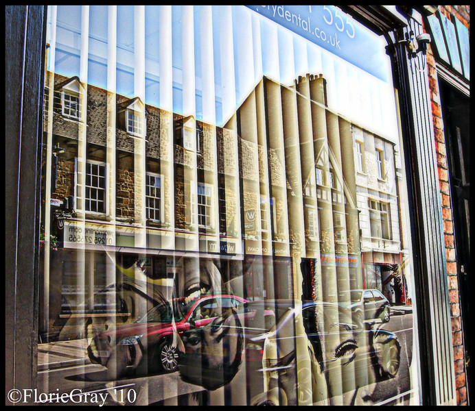 Smiling Phases; Reflections in the dentist's window, Banbury