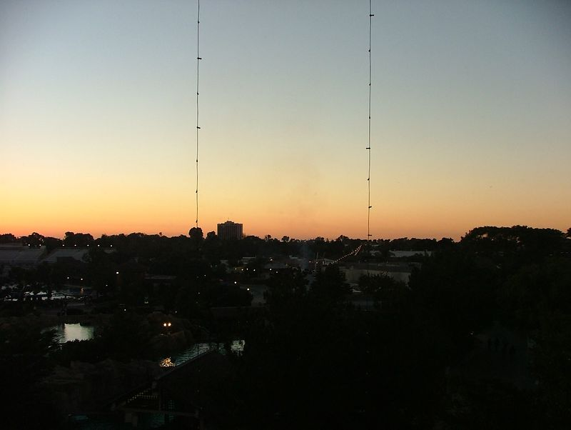 A second ride up the SkyTower, this time to get the sunset