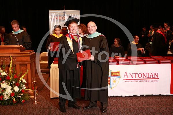 2015 Antonian Graduation Diploma shots (from 2 cameras)