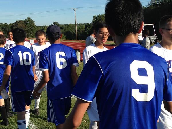 JV soccer team wins against Blue Ridge School 4-1.