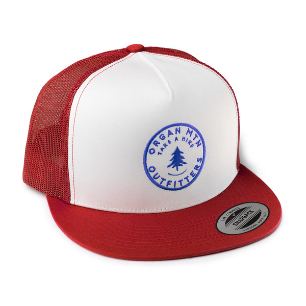 Outdoor Apparel - Organ Mountain Outfitters - Hat - Take A Hike Trucker Cap - Red White Royal Blue.jpg