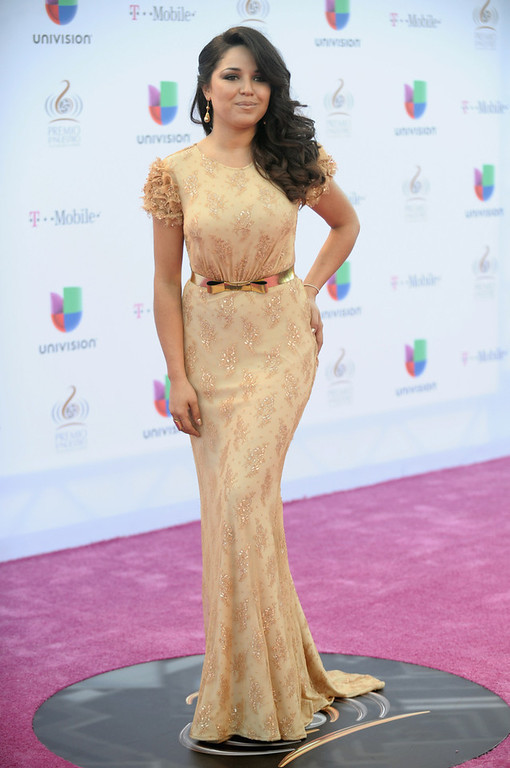". Gredmarie Colon arrives at the 25th Anniversary of Univision\'s ""Premio Lo Nuestro A La Musica Latina\"" on February 21, 2013 in Miami, Florida.  (Photo by Gustavo Caballero/Getty Images for Univision)"