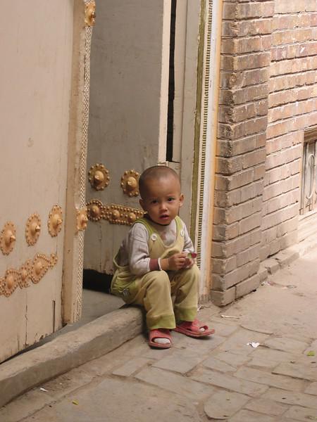 Boy in old part of Kashgar