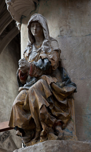 Troyes - Saint-Pantaleion - The Virgin in Prayer