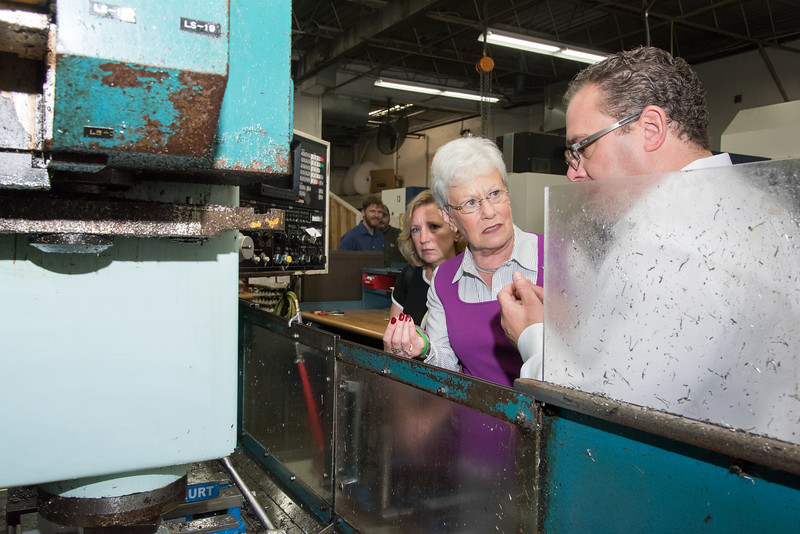 09/27/17  Wesley Bunnell | Staff  Lt. Governor Nancy Wyman visited aerospace manufacture Meadow Manufacturing on Wednesday morning. The company expanded with the assistance of the state's Small Business Express program administered by the Department of Economic and Community Development. Lt. Governor Wyman listens as owner Mark Gregoretti explains the operations of one of their machines.