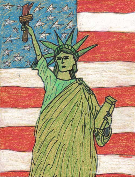 Statue of Liberty 2006/2007 Drawing Contest Finalist — Alyssa, age 10 (Fall Branch, Tennessee)