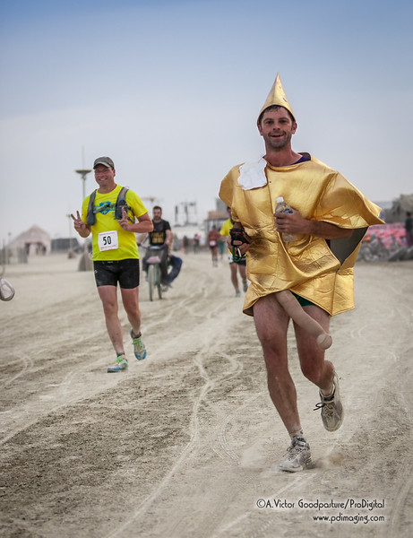 The 50K Ultramarathon (and smaller distances as well) brings out the serious runner and those willing to dress up.... Burning Man style!