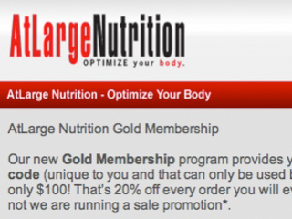 AtLarge Nutrition Gold Membership