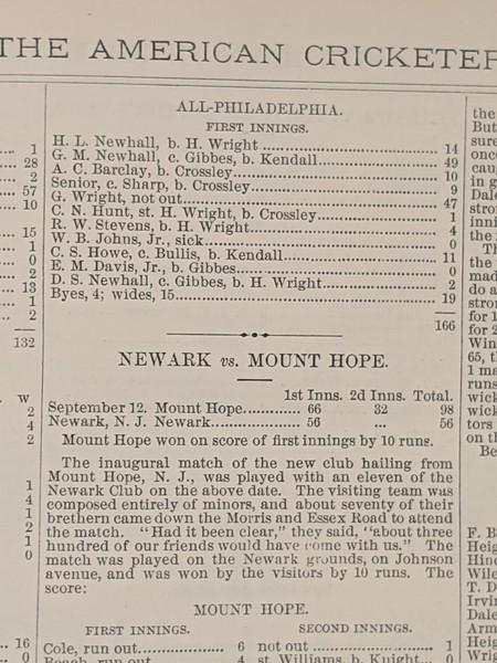 All Philadelphia vs All New York 1864