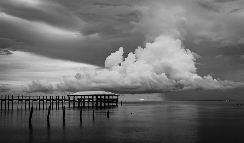 Storm Clouds Mobile Bay BW 082918 (1 of 1).jpg