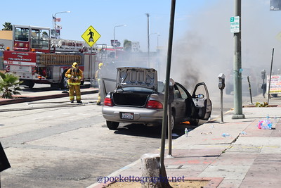 5472 Crenshaw Blvd. Car Fire 7-6-16