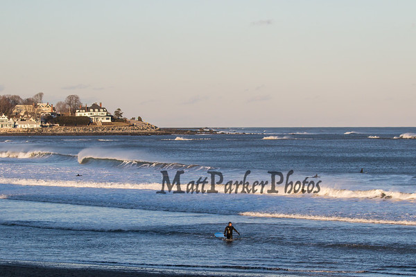 2019-1-1 Surfing at North Beach-Plaice Cove