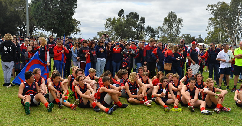 "2016 ""U15"" PREMIERSHIP TEAM PHOTO and medal presentations"