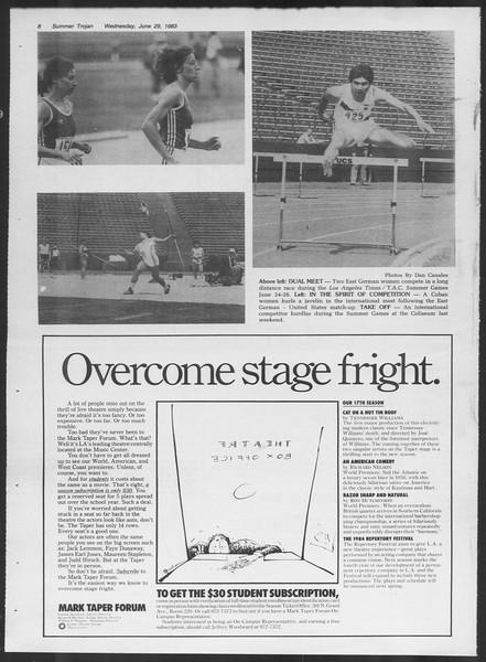 Summer Trojan, Vol. 93, No. 6, June 29, 1983