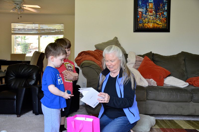 2015-05-07 Giving Mimi her surprise