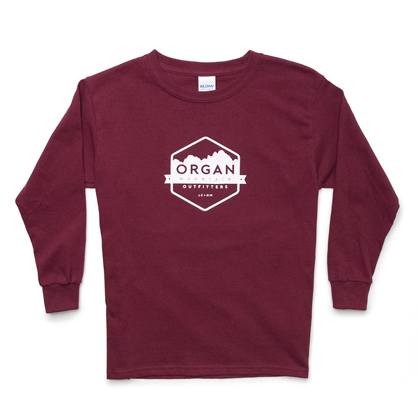 Outdoor Apparel - Organ Mountain Outfitters - Youth Classic Long Sleeve - Maroon.jpg