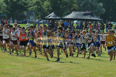 Gallery 1, JV Boys Race 2 - 2013 OU Golden Grizzly High School Invite