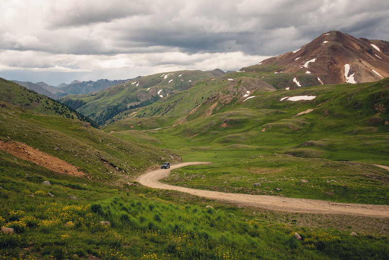 The jeep road up to Engineer Pass
