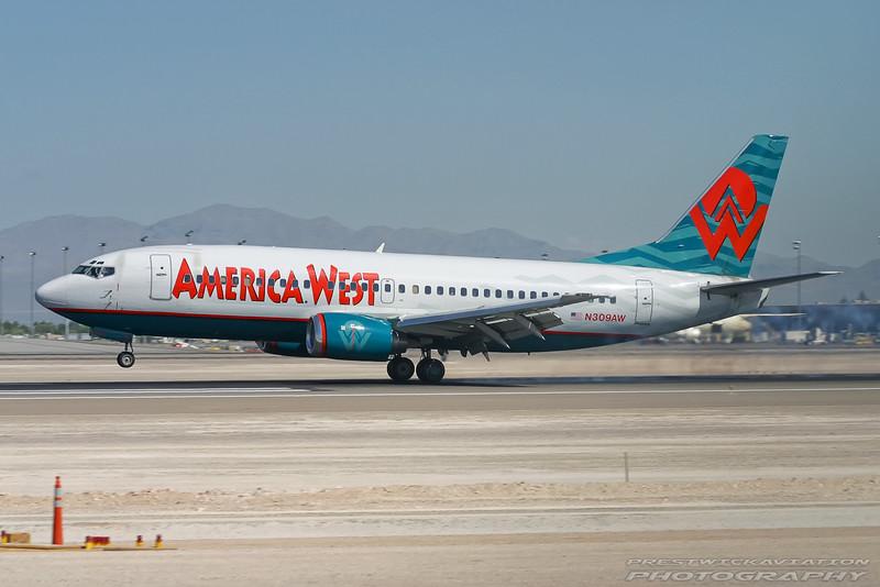 N309AW. Boeing 737-3G7. America West. Las Vegas. 210905.