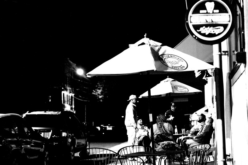 Hat City Kitchen After the Mike Lees Jazz Jam Discussing The Day93.JPG