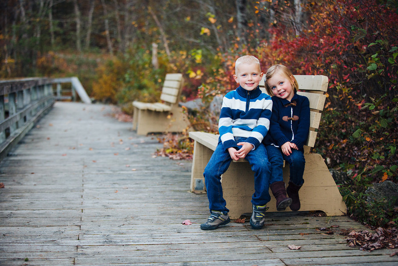 Owen & Olivia on a Bench
