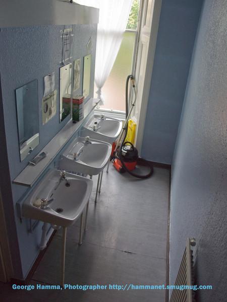 Sinks in the bathroom.