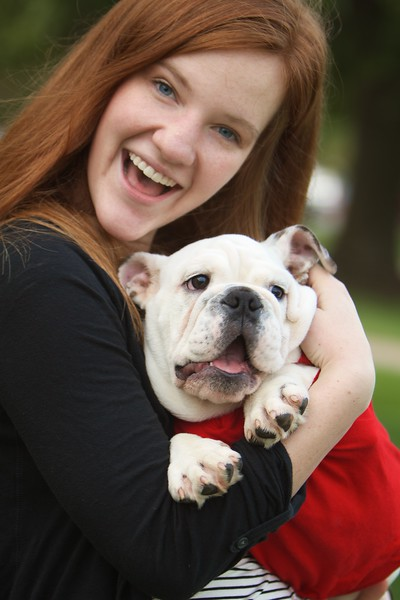 "Gardner-Webb Bulldog Mascot Roebuck ""Bucky"" plays in the quad."