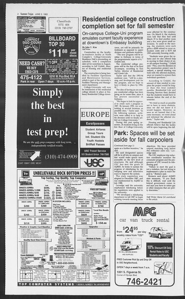 Summer Trojan, Vol. 120, No. 4, June 02, 1993
